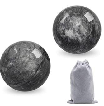 Coolrunner 2'' Marble Dark Grey Baoding Balls Chinese