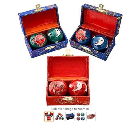Happy Sales HSHB-SMHB01, Chinese Health Balls Baoding Iron Ball Sun & Moon, Order