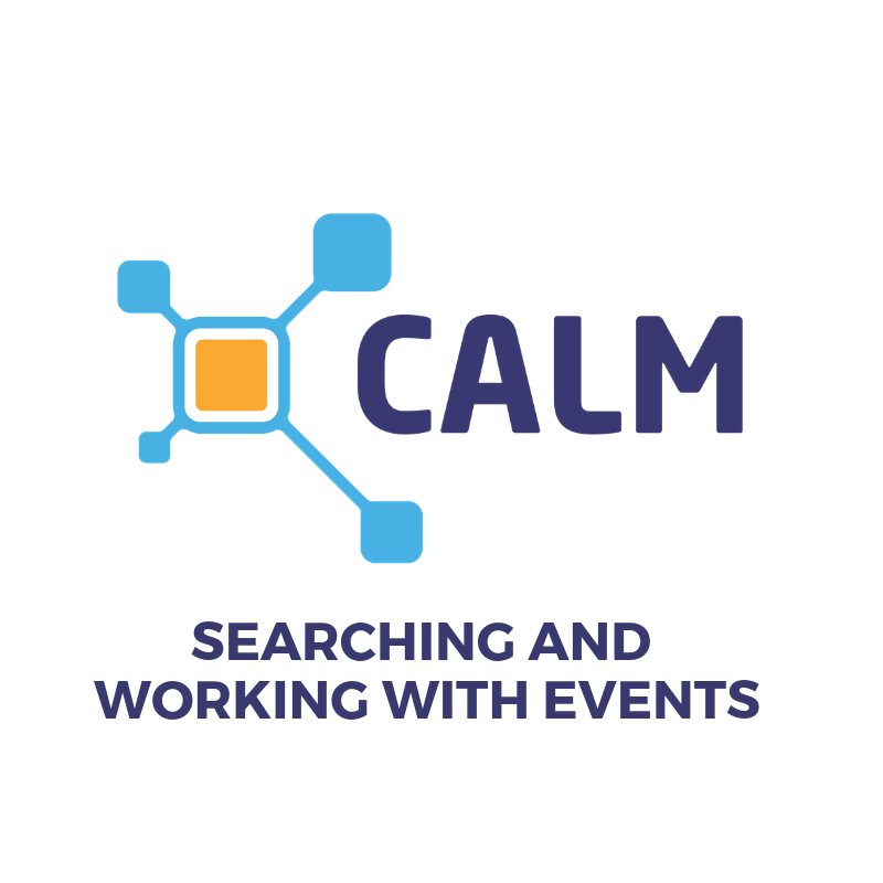 Searching and working with events