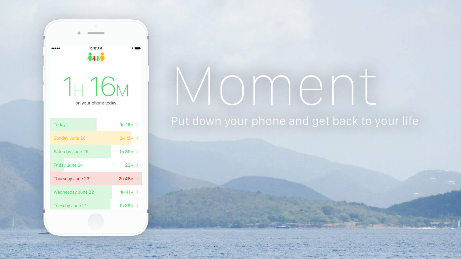 Moment App – Put down your phone and get back to your life!