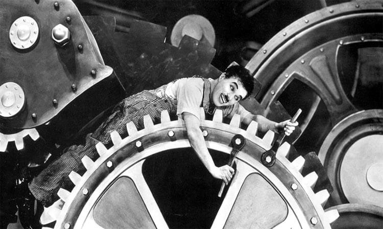 Chaplin en Mundos Modernos