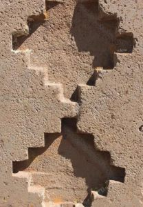 Chakana en roca