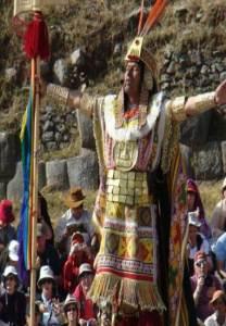 Inca celebrando el Inti Raymi