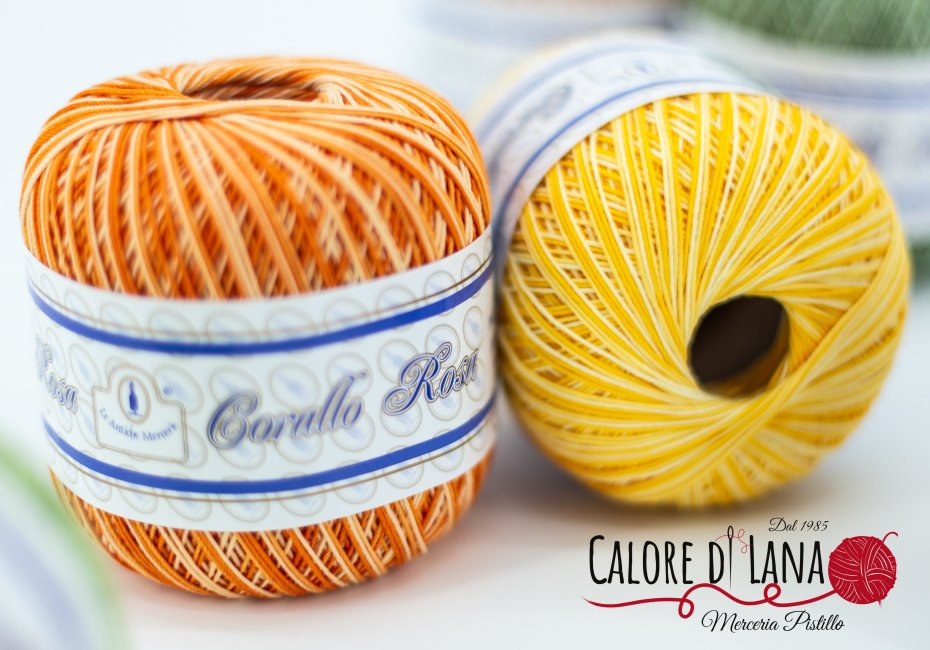 Filo di Scozia Sfumato Corallo Rosa - Le Antiche Merceria - Calore di Lana www.caloredilana.com
