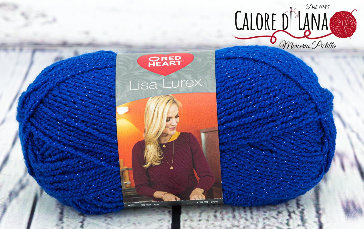 Lisa Lurex Red Heart Col. 5 - Calore di Lana www.caloredilana.com