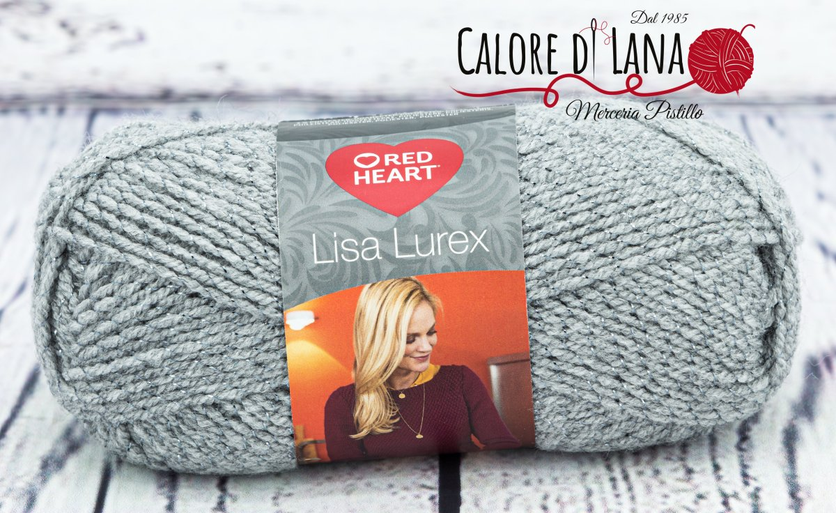 Lisa Lurex Red Heart Col. 9 - Calore di Lana www.caloredilana.com
