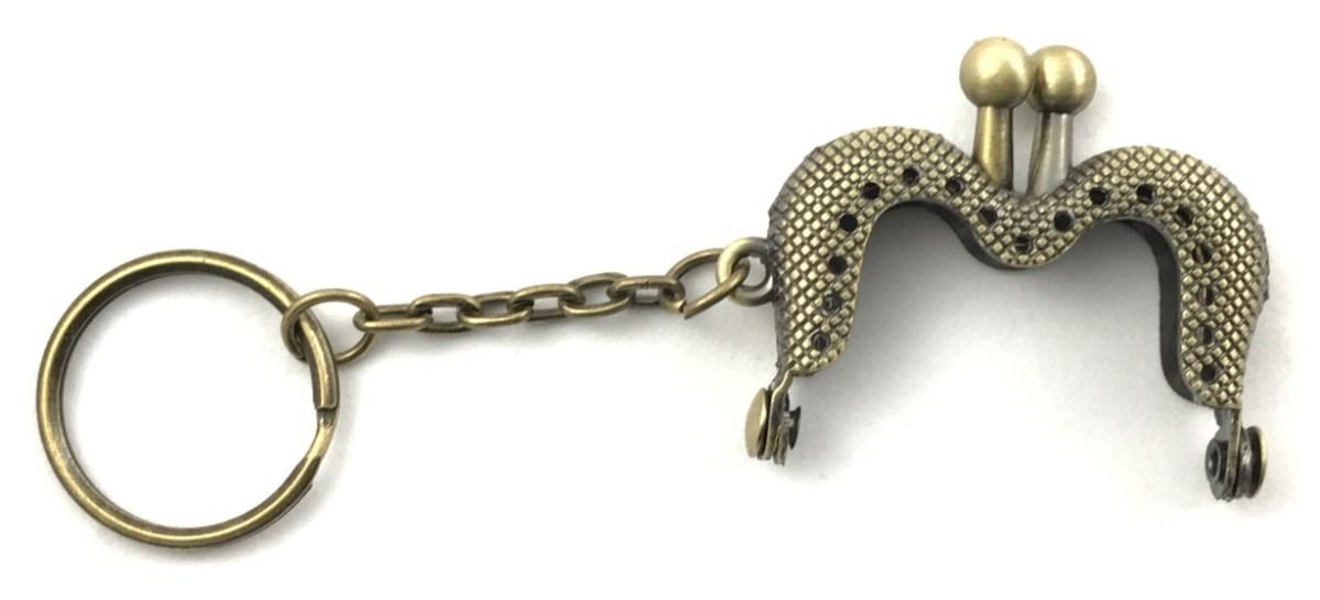 Clic Clac Portachiave Bronzo 4 cm - Calore di Lana www.caloredilana.com