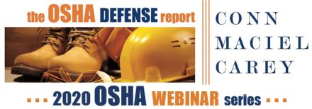 2020 OSHA Blog and Webinar Series Banner