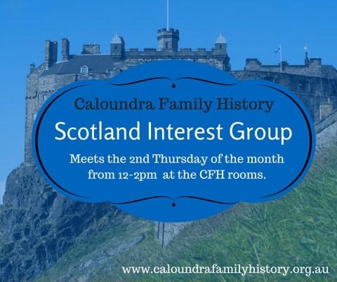 Scotland Interest Group Meeting