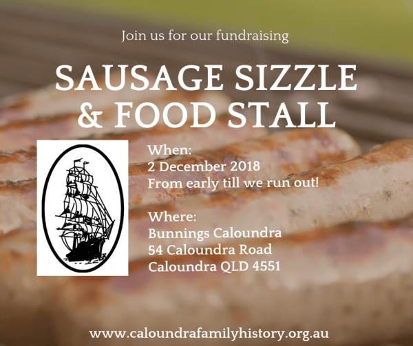 Sausage Sizzle at Bunnings Caloundra 2 December 2018