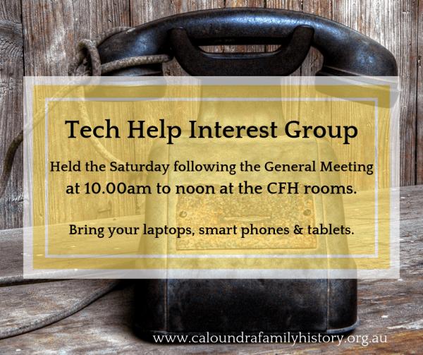 Tech Help Interest Group Banner