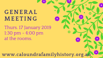 Jan 2019 General Meeting