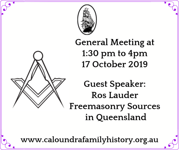 Ros Lauder - Freemasonry Sources + General Meeting