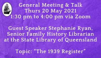 General Meeting & Talk 20 May 2021