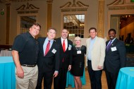 Advocates gather for an evening reception