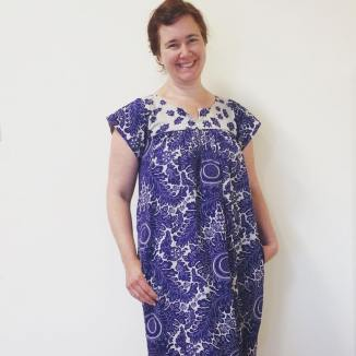 folk dress blue