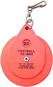 OFFICIAL'S LINEMAN'S DISC CLIP-ON CHAIN YARDAGE MARKER