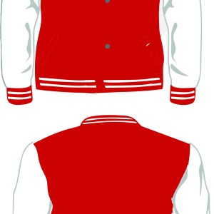 PALOS VERDES LETTERMAN WHITE-RED