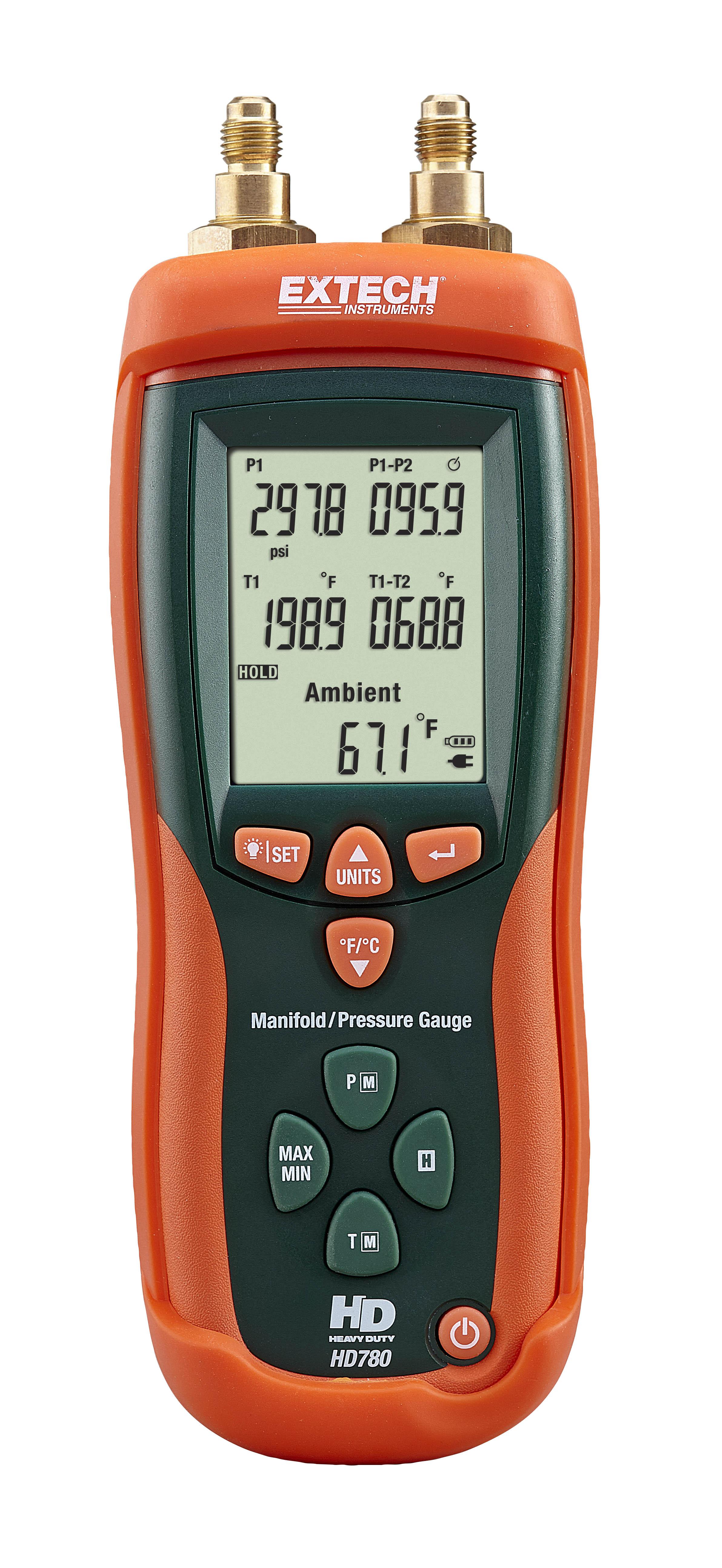 Extech HD780 Digital Manifold/Pressure Gauge