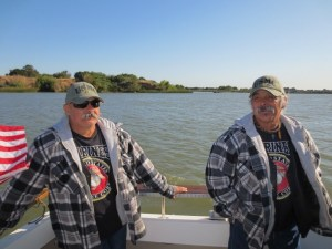 Twin brothers from the Marines enjoying a day on the water. (PURPLE HEART ANGLERS)