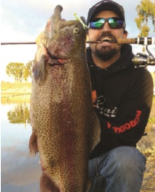 Craig Adkinson with 10-pound rainbow trout