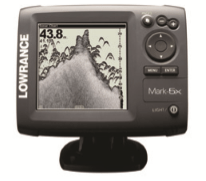 Garmin-brand black-and-white fishfinder