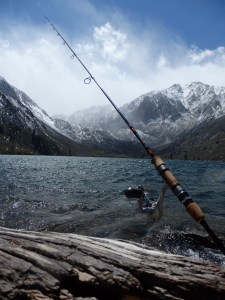 Convict Lake's high elevation means the April 30 trout opener could be sunny and warm, but also maybe snowy like the last two years. No matter the weather, expect big crowds. (MIKE STEVENS)