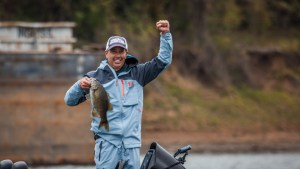 Growing up in Florida, Todd Kline's two biggest passions included surfing and bass fishing. After giving the former a try on the professional level, he's doing the latter as a co-angler on the FLW Tour. (KIRSTIN SCHOLTZ/COLIN MOORE/FLW)
