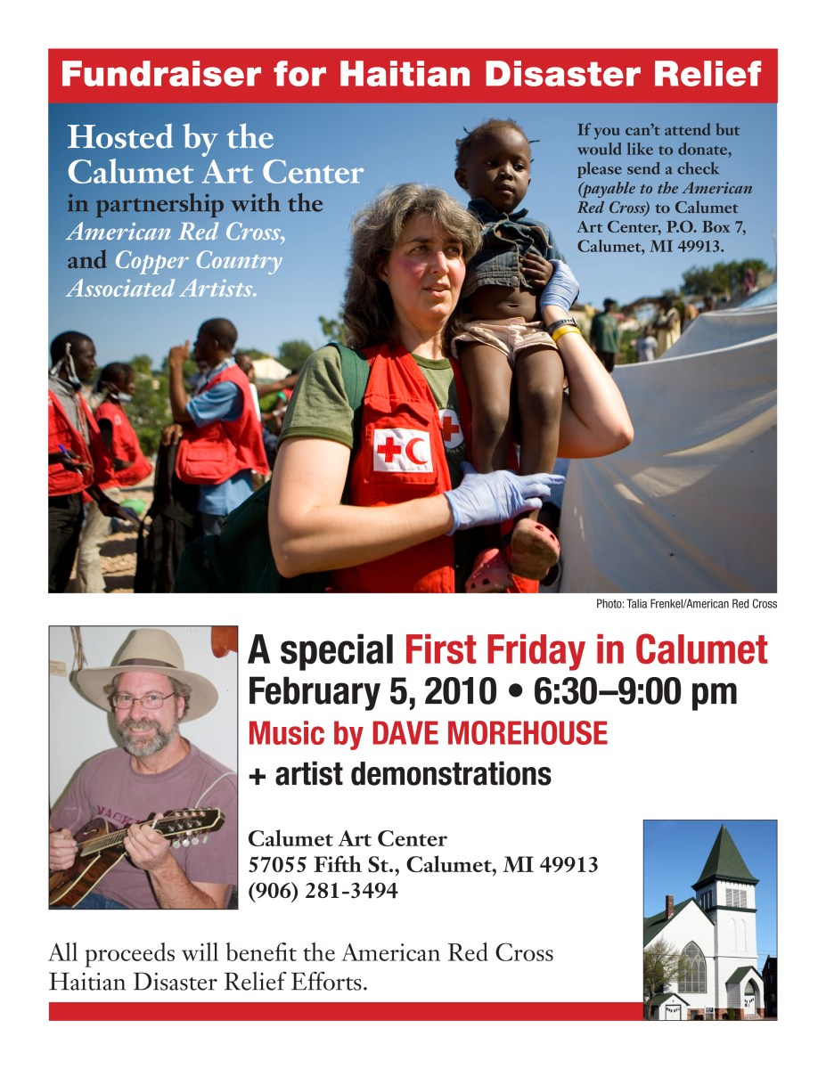 First Friday in Calumet, Haiti Fundraising for the American Red Cross