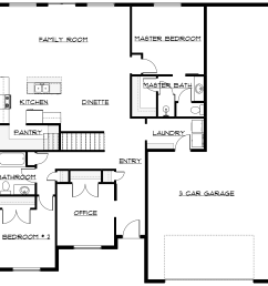 the teton 2 has 2 bedrooms up with a flex room and room for 3 more beds and great room down designed to expand with infinity expansion options  [ 1926 x 1926 Pixel ]