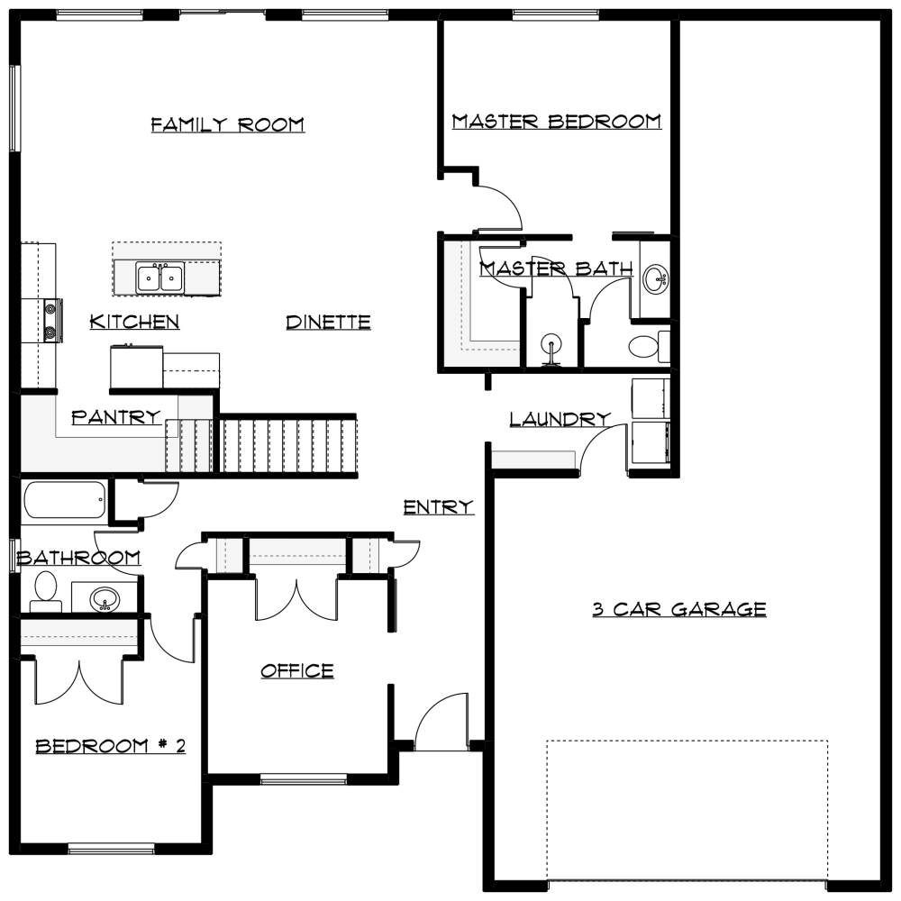 medium resolution of the teton 2 has 2 bedrooms up with a flex room and room for 3 more beds and great room down designed to expand with infinity expansion options