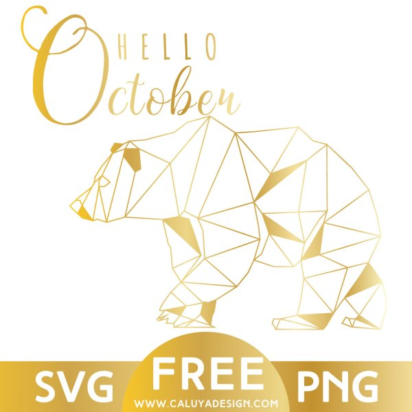 Gold Bear Free SVG & PNG Download