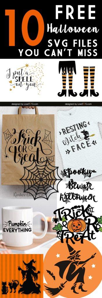 10 FREE Halloween SVG Cutting Files