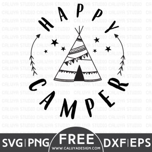 Happy Camper Free SVG