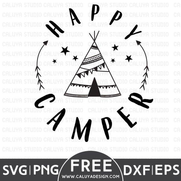 Happy Camper Free SVG