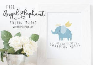 Angel Elephant Free SVG, PNG, EPS & DXF DOWNLOAD