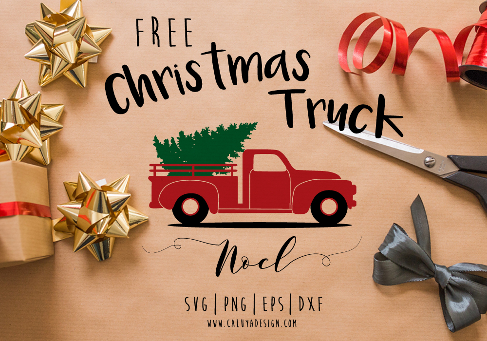 Old Truck Christmas Tree Free SVG PNG EPS Amp DXF Download
