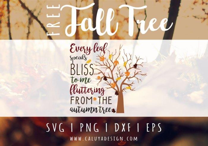 Fall Tree Free SVG PNG