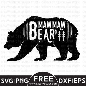 Mawmaw Bear Free SVG