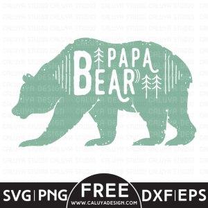 Papa Bear Free SVG