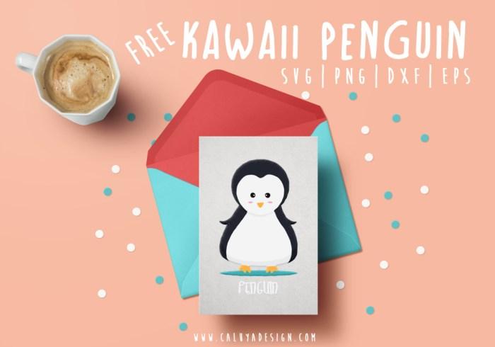 Kawaii Penguin Free SVG