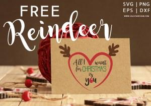 Reindeer Heart Free SVG