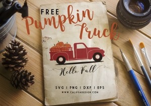 old truck pumpkin free SVG