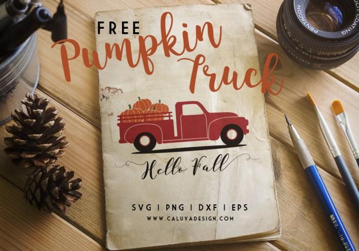 old truck pumpkin free SVG