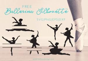 Ballerina Monogram Free SVG