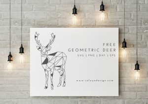 geometric deer free SVG