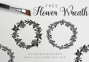 flower wreath free SVG