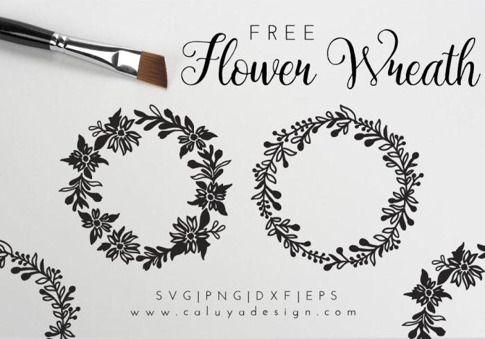 flower wreath free SVG