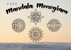 Mandala Monogram Free SVG