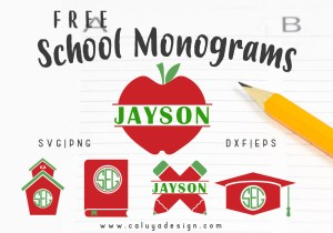 school monogram free SVG